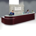 "Esquire Double Glass Top Reception Desk - 189""W x 63""D, 10326"