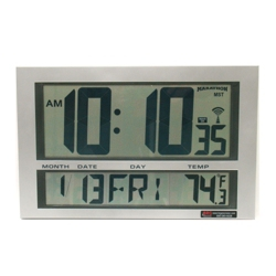 Digital Wireless LCD Synchronized Clock with Master Clock Transmitter, 86427