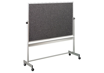 Reversible White/RubberTak Board with Aluminum Frame 5'wx4'h, 80858