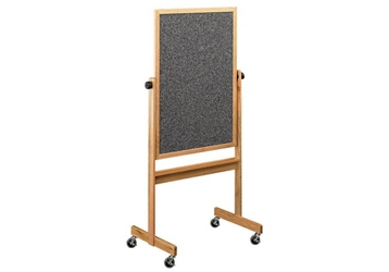 Reversible White/RubberTak Board with Oak Frame 5'w x 4'h, 80860