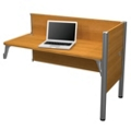 """Add-On Station with Two 43""""H Privacy Panels, 91704"""