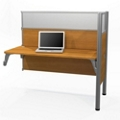 """Add-On Station with Two 55.5""""H Acrylic Privacy Panels, 91705"""