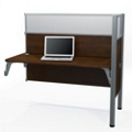 "Add-On Station with Two 55.5""H Acrylic Privacy Panels, 91705"