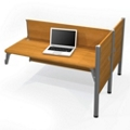 """Double Add-On Station with Three 43""""H Privacy Panels, 91706"""