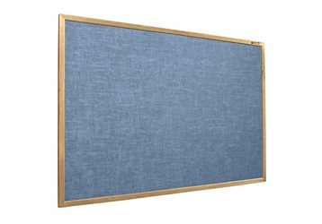 Vinyl Bulletin Board with Oak Frame 5'Wx3'H, 80874
