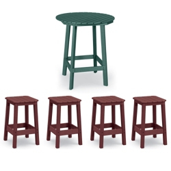 "36"" Round Bistro Table with Four Stools, 86227"