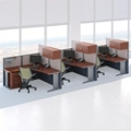 Three-Person L-Desk Workstation Set, 75486