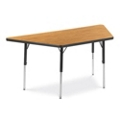 "Trapezoid Adjustable Height Utility Table - 60"" W x 30"" D, 41603"