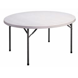 "Lightweight Round Folding Table - 60"" Diameter, 41238"