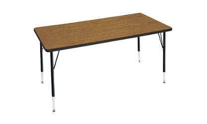 "Adjustable Height Rectangular Table 24"" x 48"", 46310"