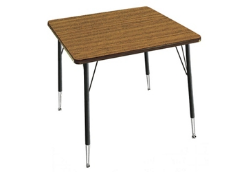 "Adjustable Height Square Table 48""x48"", 46321"