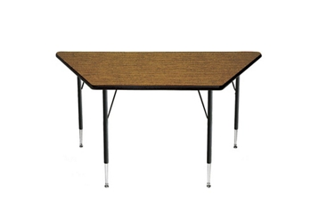 "Adjustable Height Trapezoid Table 60"" x 30"", 41376"