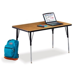 "Child Size Adjustable Height Activity Table - 48"" W x 30"" D, 41602"