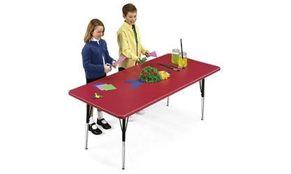 "Blow Molded Plastic Adjustable Activity Table 30"" wide x 72"" long, 46594"