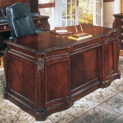 "European Styled 66"" Executive Desk, 30773"