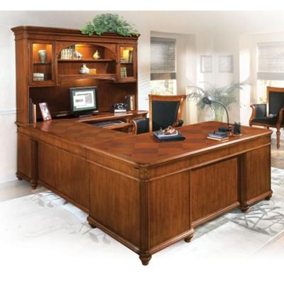 U Desk With Right Bridge And Hutch, 13384