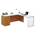 "Glass Panel L-Desk - 72"", 13712"