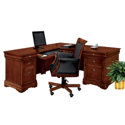 L-Desk with Left Return and Chair, 14306