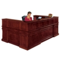 Traditional Reception U-Desk with Left Return, 15203