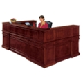 Traditional Reception U-Desk with Right Return, 15204