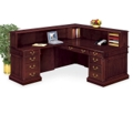 Traditional Reception L-Desk with Left Return, 15205