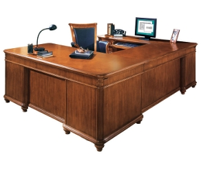 Executive U Desk with Left Bridge, 15394
