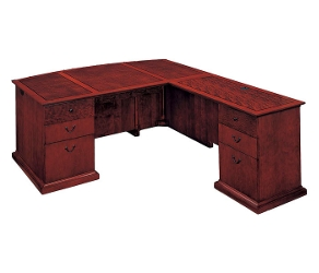 L-Shape Bow Front Desk with Right Return, 15420