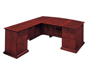 L-Shape Bow Front Desk with Left Return, 15421