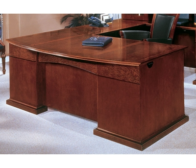 Bow Front U Shape Desk With Right Return, 15422