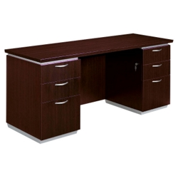 "Kneespace Credenza - 72""W - Fully Assembled, 14224"