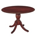 "English Cherry Traditional Round Conference Table - 48"" Diameter, 40619"