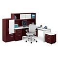 L-Desk Office Suite with Glass Accents, 86022-1