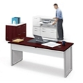 Executive Glass Panel Desk w/Storage Set, 86028