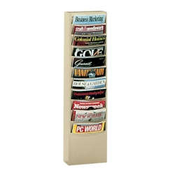 Wallmount Literature Rack with 11 Magazine Pockets, 33042
