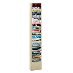 Wallmount Literature Rack with 20 Magazine Pockets, 33043
