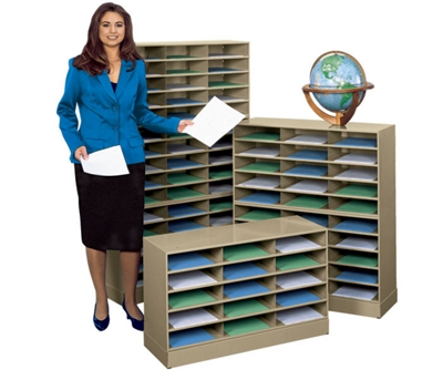 steel 45 pocket literature organizer with base
