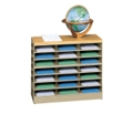 Wood Top Literature Organizer with Base, 33289