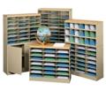 Wood Top 45 Pocket Literature Organizer with Base, 33292