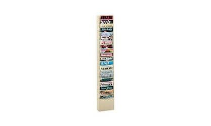 Steel Wall Literature Rack 20 Extra Large Pockets, 33013