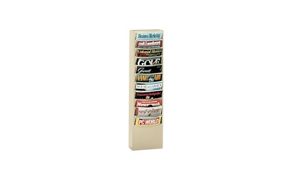 Steel Wall Literature Rack 10 Extra Large Pockets, 33022