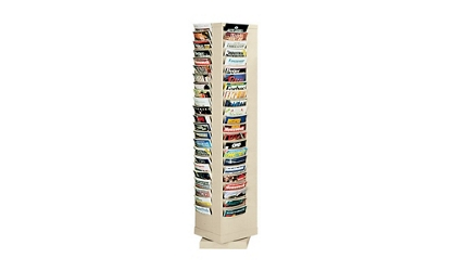 Steel Rotary Literature Rack 80 Pocket, 33024
