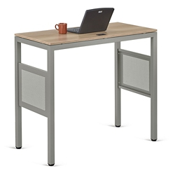 "At Work Standing Height Desk in Warm Ash - 48""W x 24""D, 13894-1"