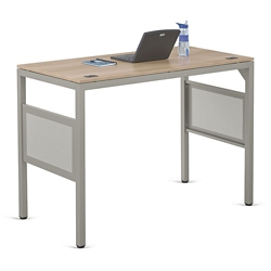 """At Work Standing Height Desk in Warm Ash - 60""""W x 30""""D, 13895"""
