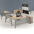 At Work Executive L-Desk Suite in Warm Ash, 46446
