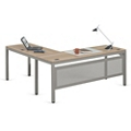 "At Work Executive L-Desk in Warm Ash - 72""W x 78""D, 13900"