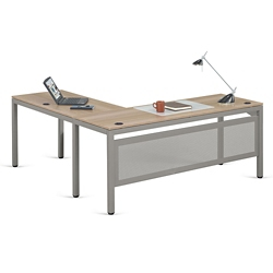 "At Work 72""W x 72""D Reversible L-Desk, 14520"