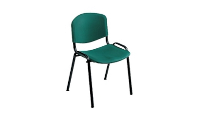 Armless Stack Chair with Oversized Plastic Seat, 44134