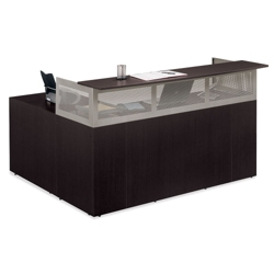 At Work Right Return L-Desk with Pedestal, 13518