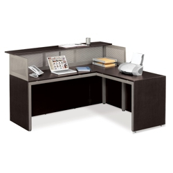 At Work Reception L Desk With Right Return 75933