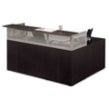 At Work Reversible L-Desk with Pedestal , 14964